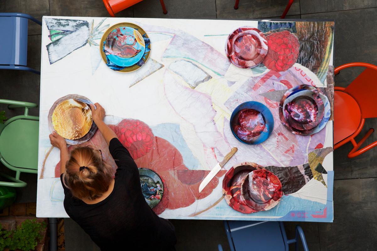 EATYOURCITY.art ANJA ROTH, LAID TABLE