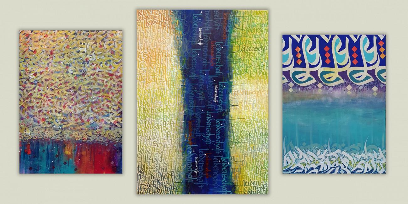 Kunst Adel Ibrahim-Sudany, Kulturaustausch durch die Schrift