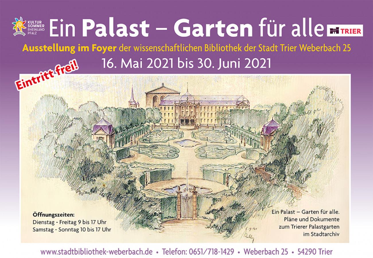 Baumeister Trier Dr. Kathrin Baumeister, Der Trierer Palastgarten – Ausstellung  Vorträge  Führungskonzept