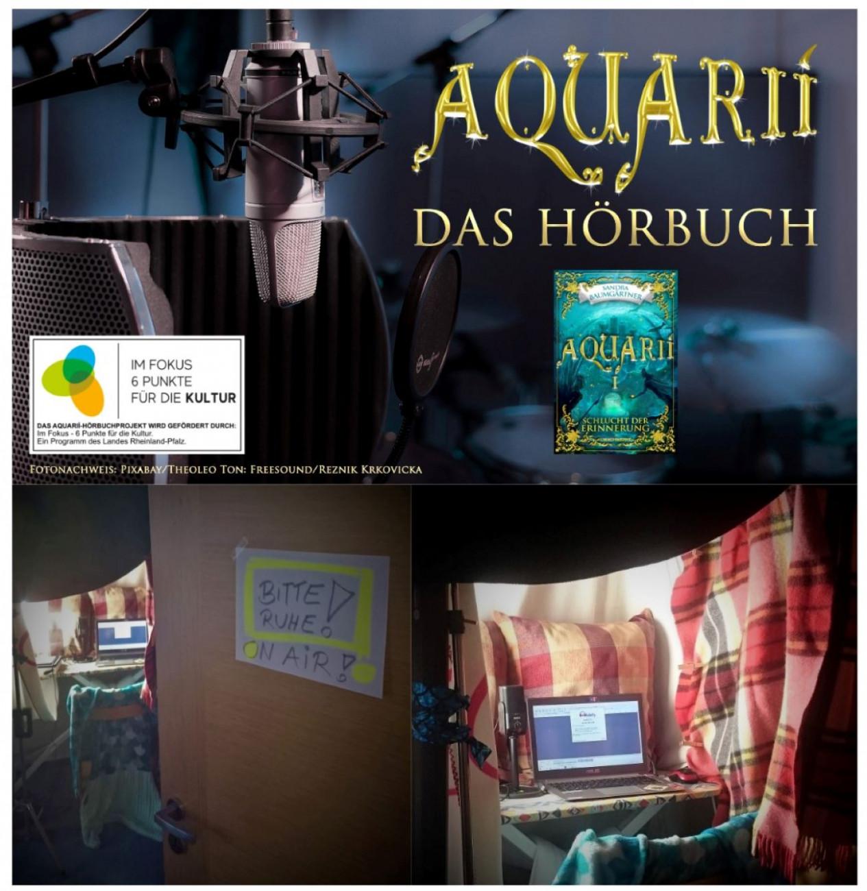 Autorin Sandra Baumgärtner, Das Aquarií-Hörbuch – Einlesen/Produktion eines Hörbuches Sandra Baumgärtner