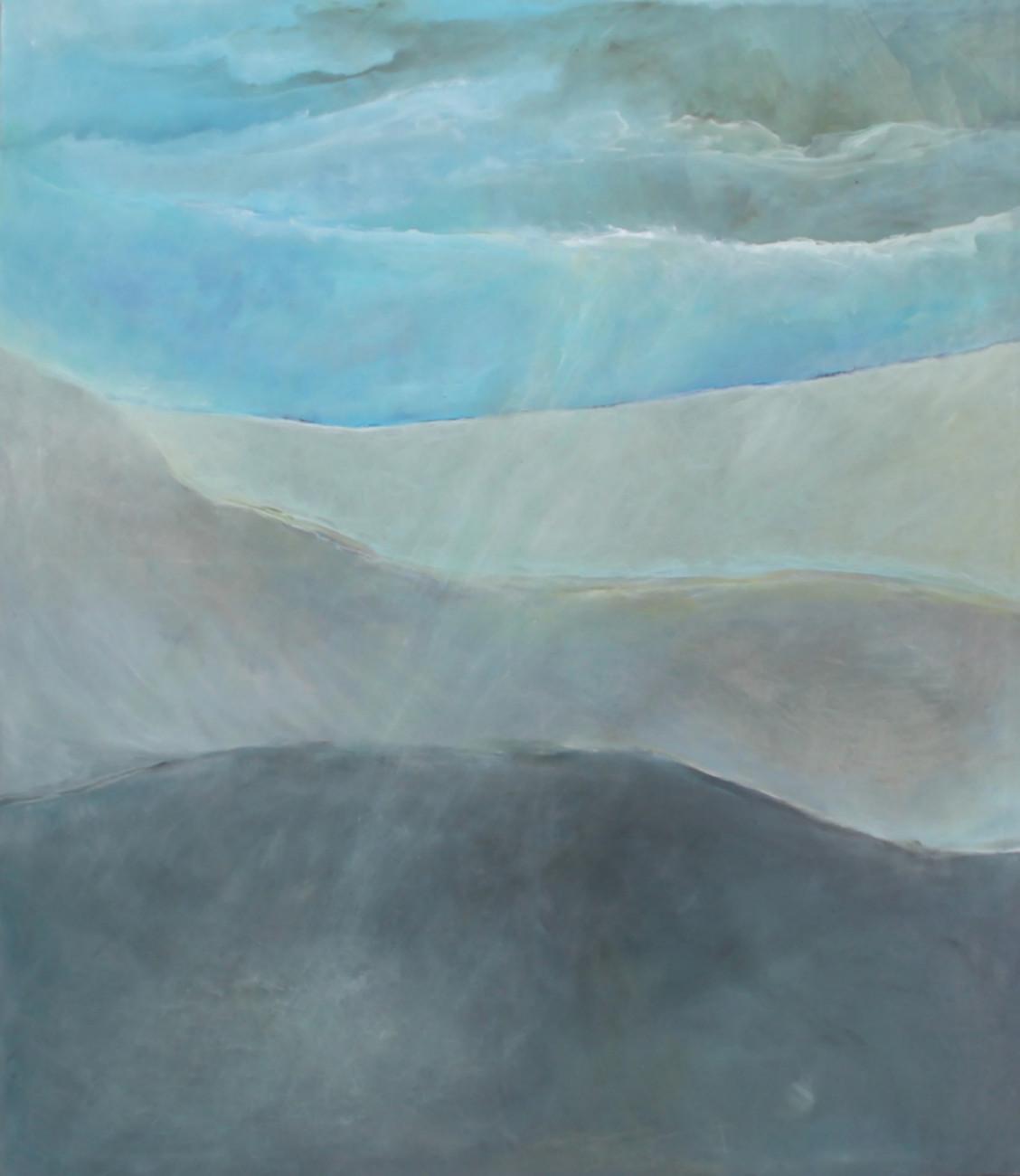 Sybille Fruth, Blaue Schale – Begegnung – Gewitter – Licht -Arche Sybille Fruth