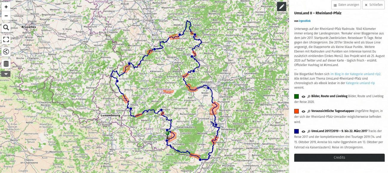 Jürgen Rinck, Ums Land Rheinland-Pfalz II Screenshop Open Streetmap map data © OpenStreetMap contributors under ODbL — @irgendlink 2017-2020