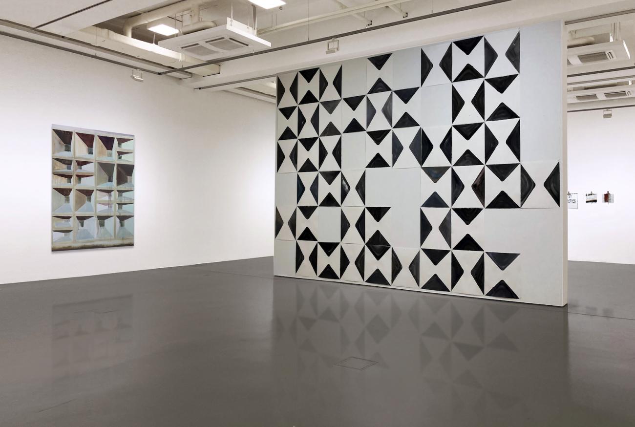 Katja von Puttkamer, Ausstellungsansicht, Muster Stadt – Pattern City, 2021, Kunstverein Bad Wonder