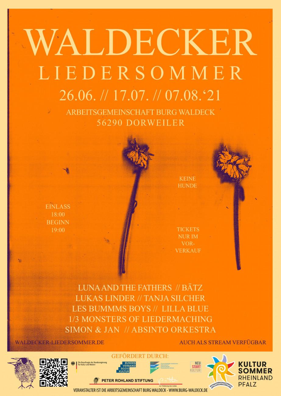 Plakat Waldeck Liedersommer