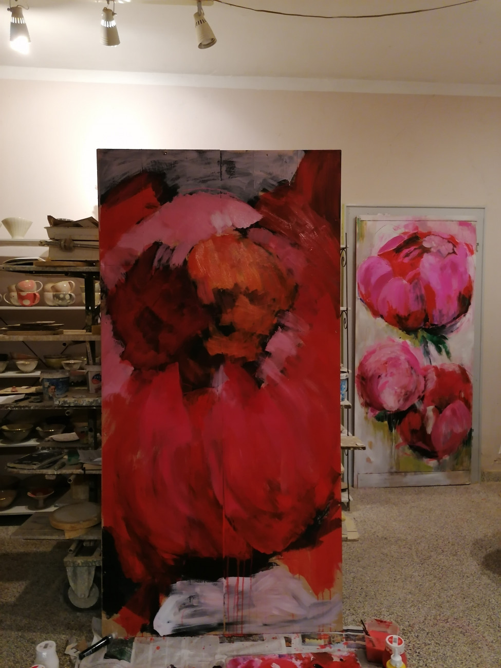 Uta Minnich, Acrylmalerei große Blumenbilder