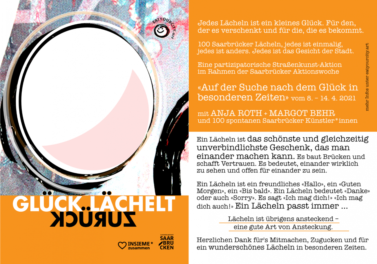 EATYOURCITY.art ANJA ROTH, Mentale Last – Glück lächelt zurück! Anja Roth