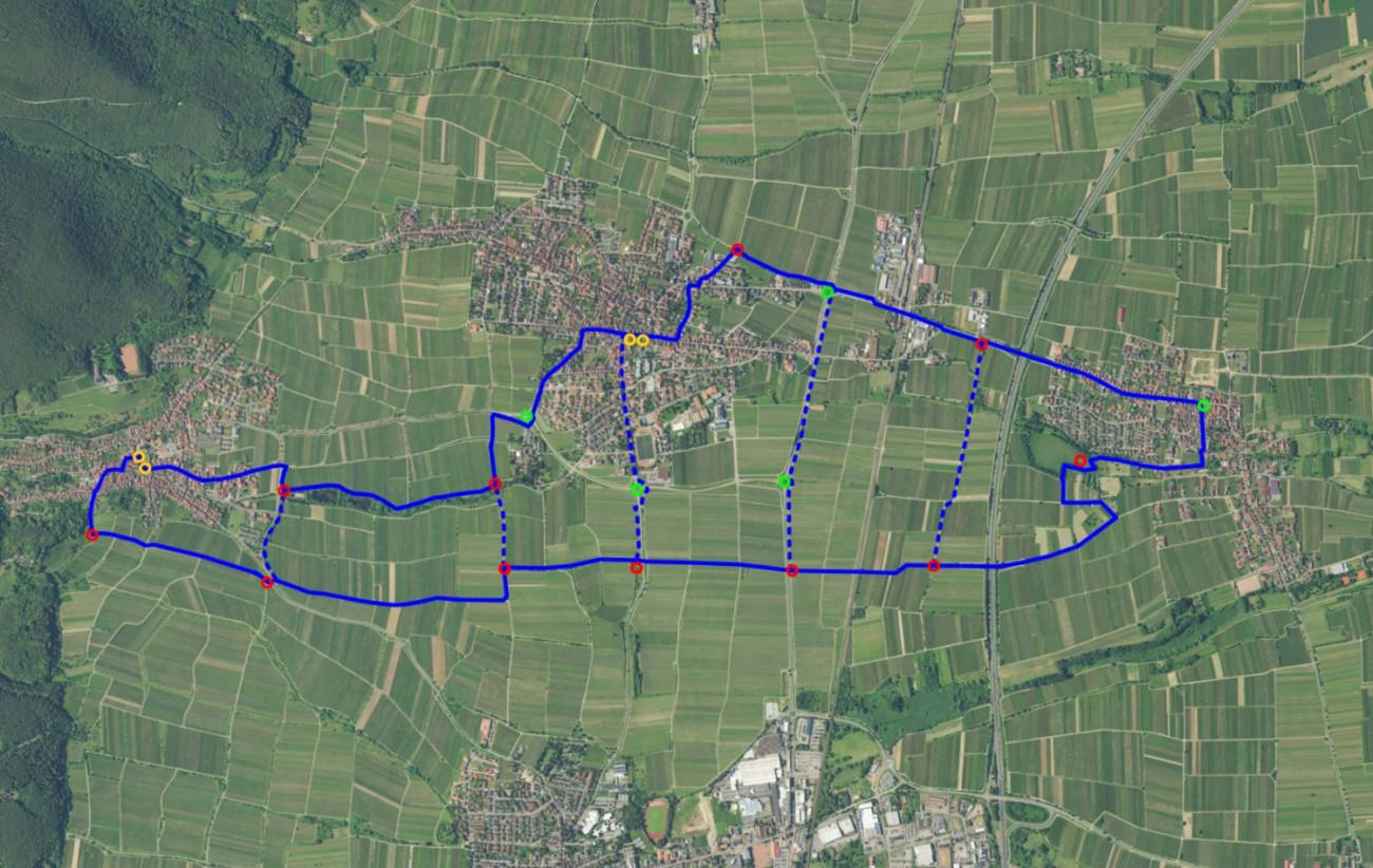Kunstpfad Kirrweiler, Kunstpfad Kirrweiler Open Street Map / Herbert Pauser / 2019