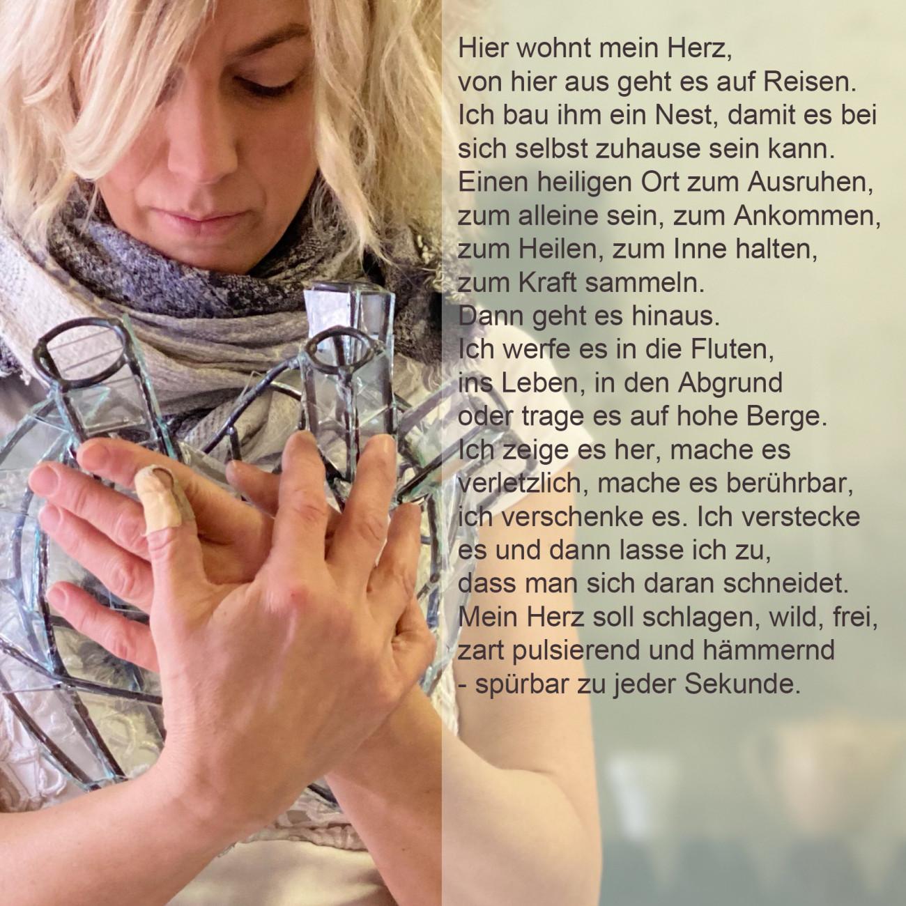 Anne Hein - anthana glaswerkstatt , Dies ist mein Herz