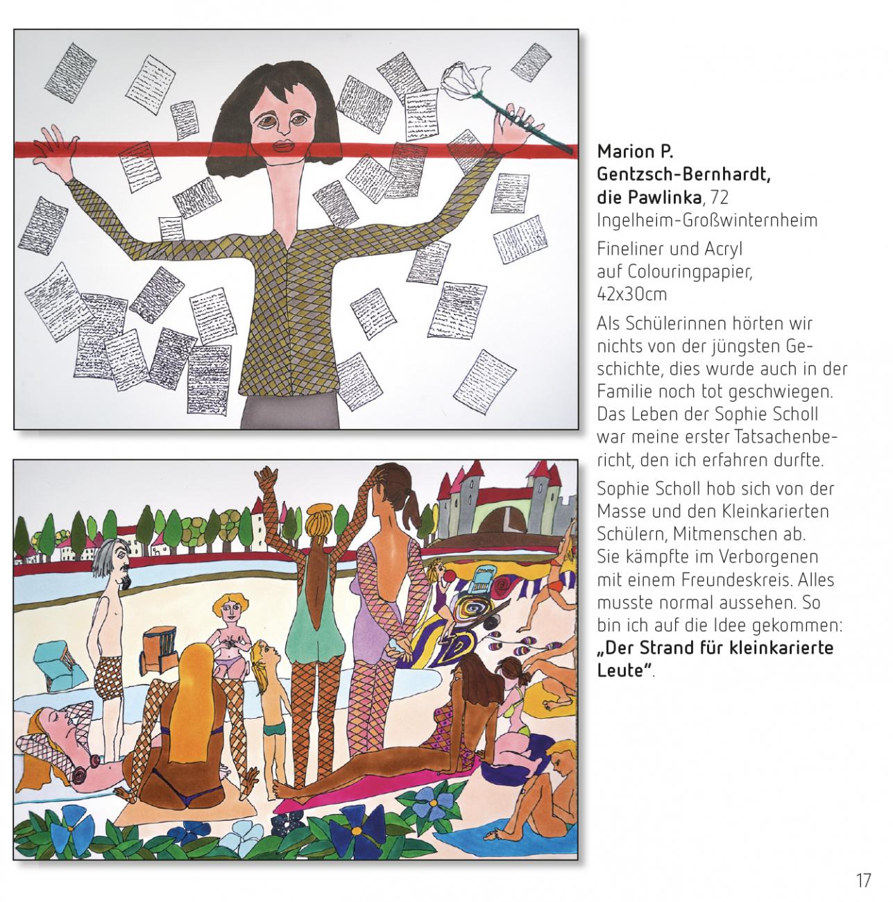 kunstkulturlabor Tobias Boos, Mitmach-Projekt zum 100. Geburtstag von Sophie Scholl Marion P. Gentzsch-Bernhardt