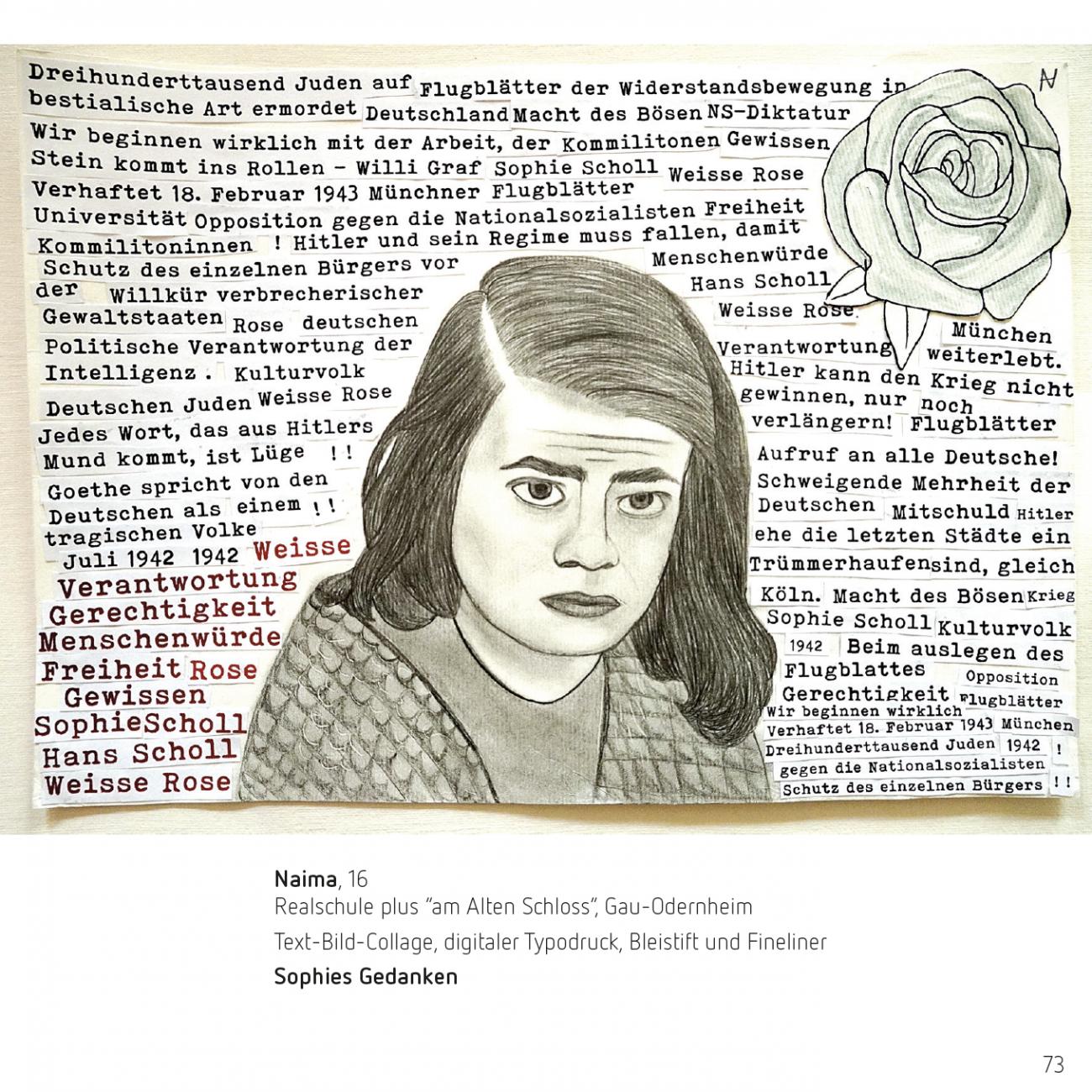 kunstkulturlabor Tobias Boos, Mitmach-Projekt zum 100. Geburtstag von Sophie Scholl Naima